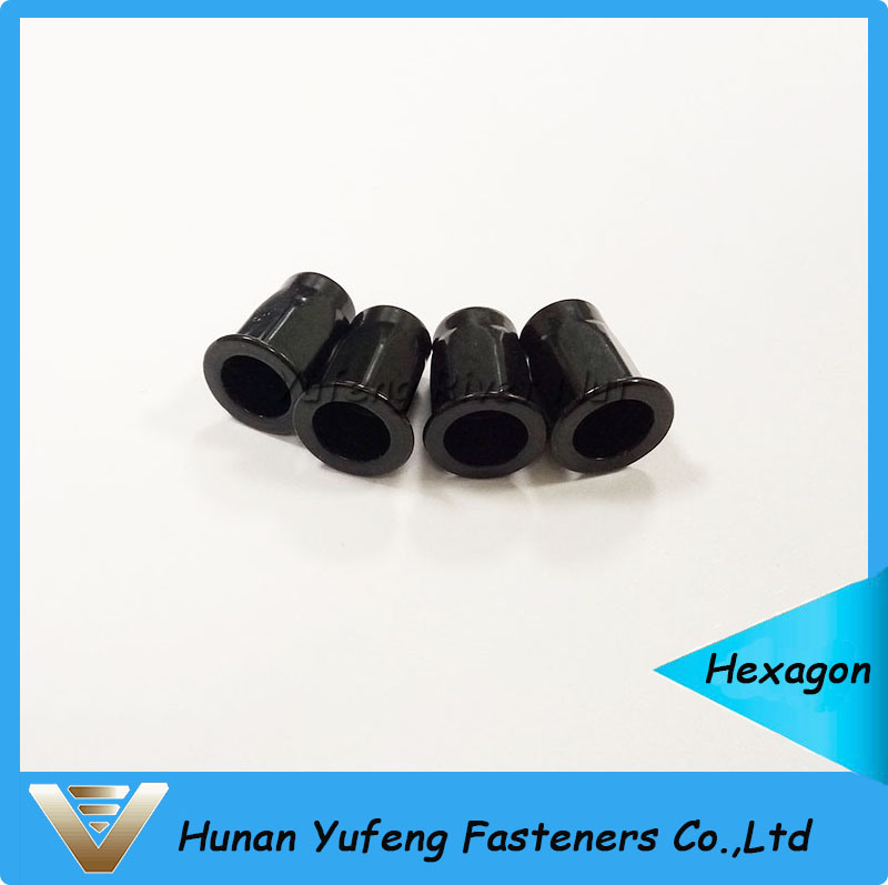 Black Zinc Plating Flat Head Rivet Nut with Hexagon Body