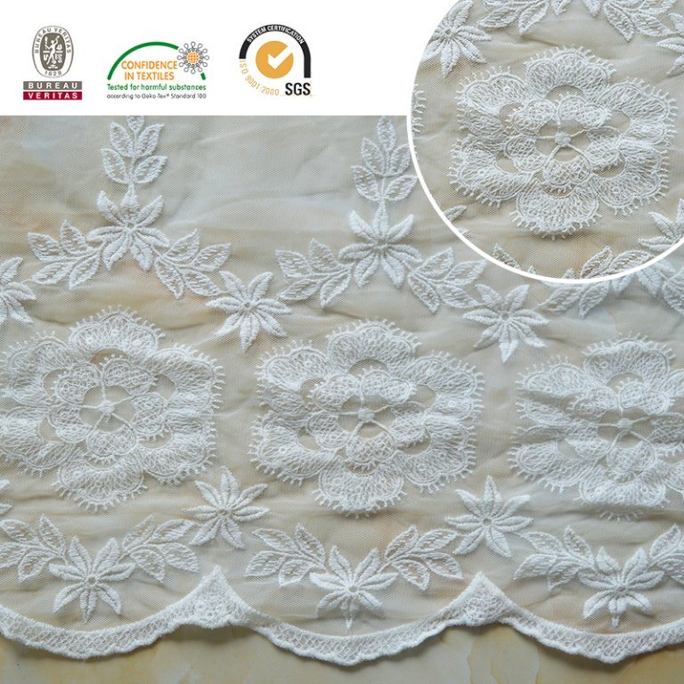 2017 Lace Fabric Floral Pattern Melt Poly Beautiful E30023 pictures & photos