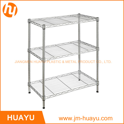 50lx30wx70h Square Shape Chrome Finish Storage Rack