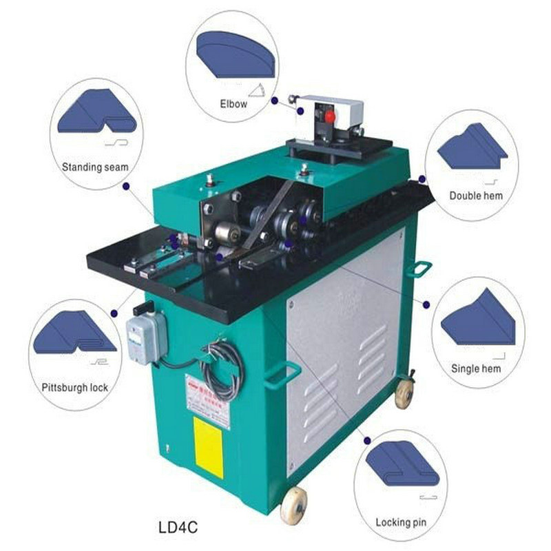 Galvanized Steel Pipe Material HVAC Duct Application Lock Forming Machine