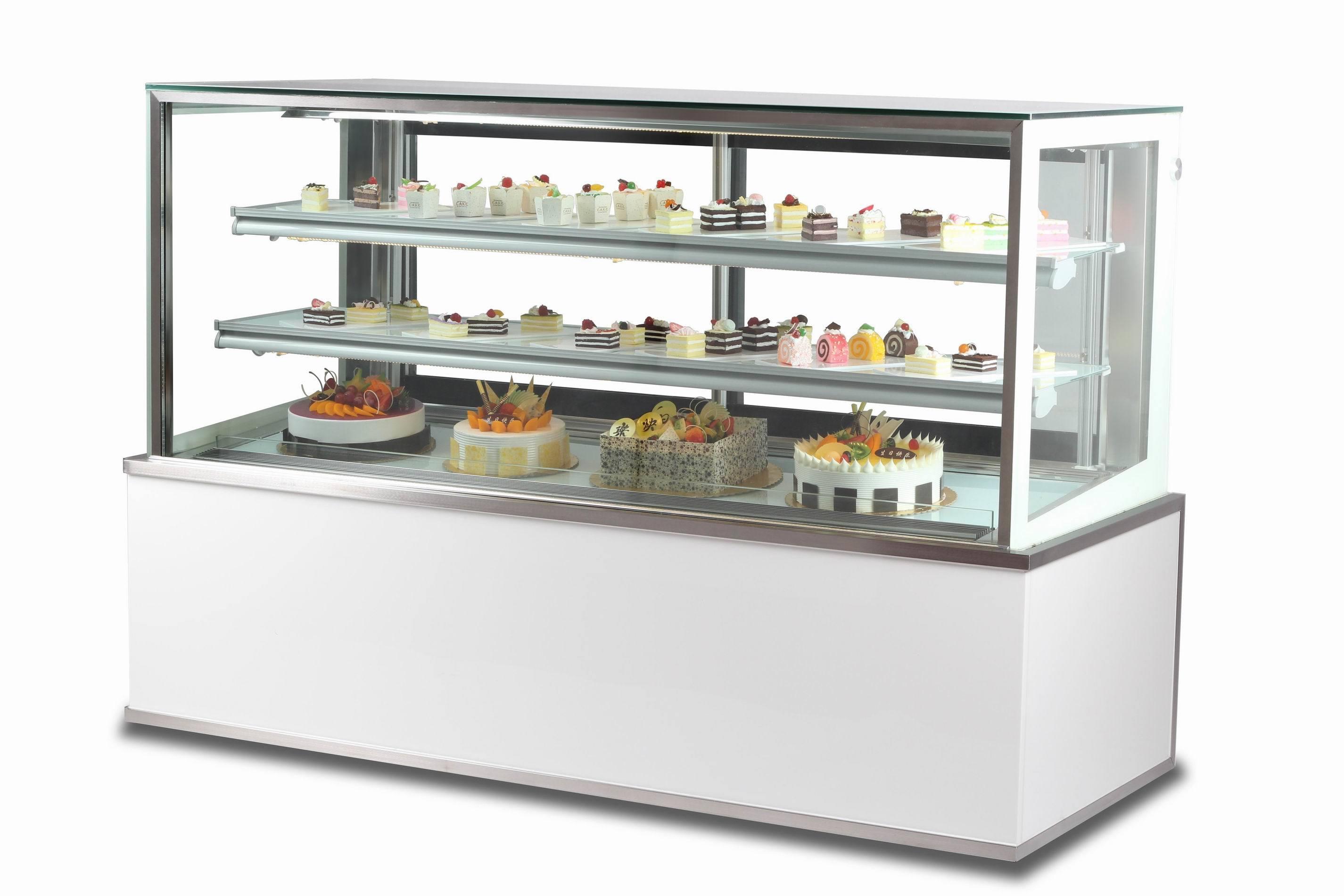 China Cake Display Counter Showcase Fridge China Cake