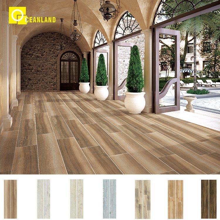 China Non Slip Wood Ceramic Floor Tile