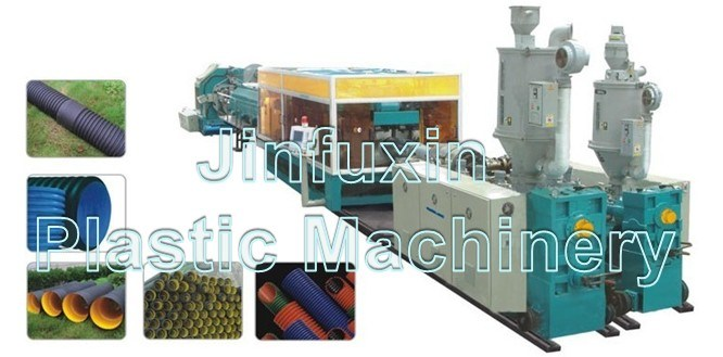 PE/ PP/ PVC Plastic Double Wall Corrugated Pipe Extrusion Machine (SJ-65/ SJ-80/ SJ-92)