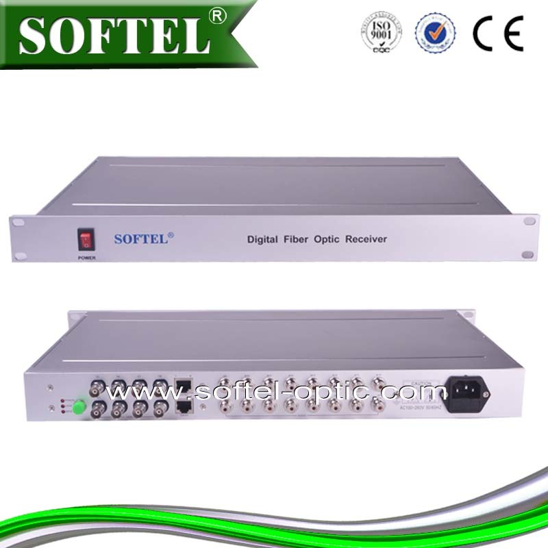 1u Chassis Type Professional Optical Video Converter (Video/Audio/Data) , Video/Audio Optical Transceiver