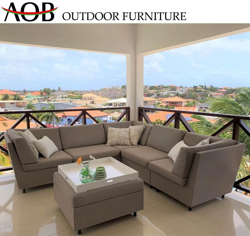 [Hot Item] Wholesale Modern Outdoor Garden Home Deck Balcony Furniture  Patio Modular L Shape Lounge Couch Set Corner Sofa Furniture