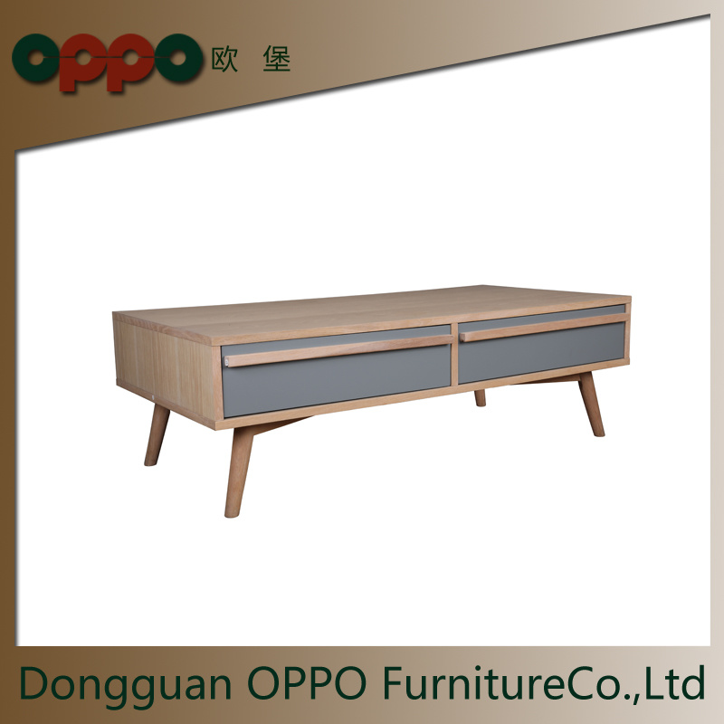 China Wooden Coffee Table With Two