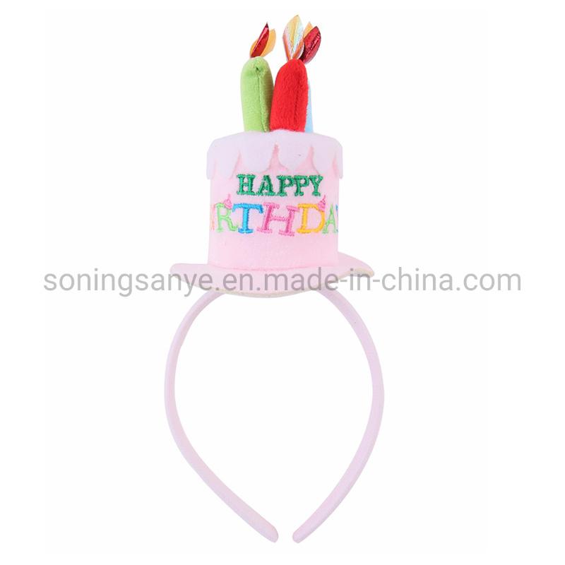 Groovy China Dto0067 Happy Birthday Cake Candles Pink Headband Funny Funny Birthday Cards Online Alyptdamsfinfo