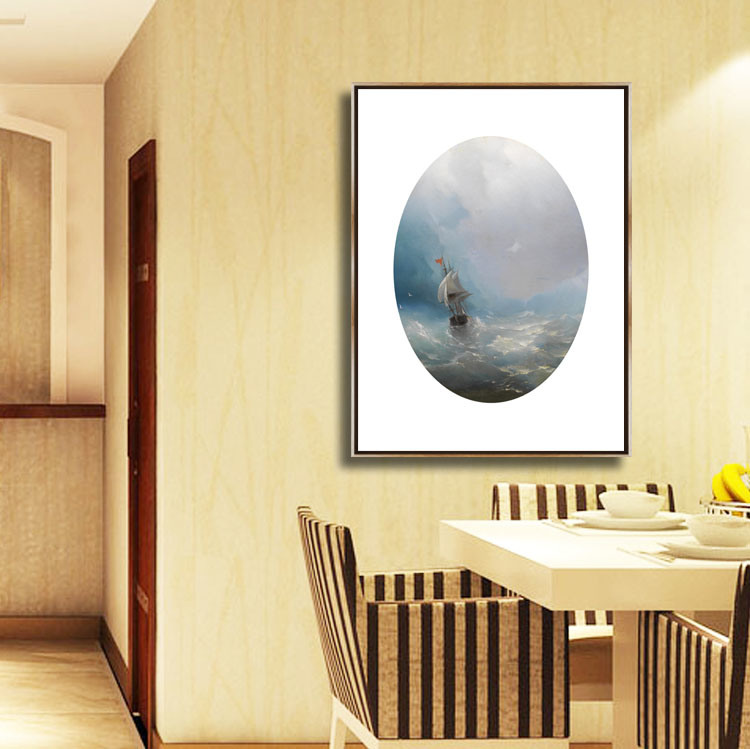 China HD Seascape Oil Canvas Decorative Painting Wall Art Picture ...