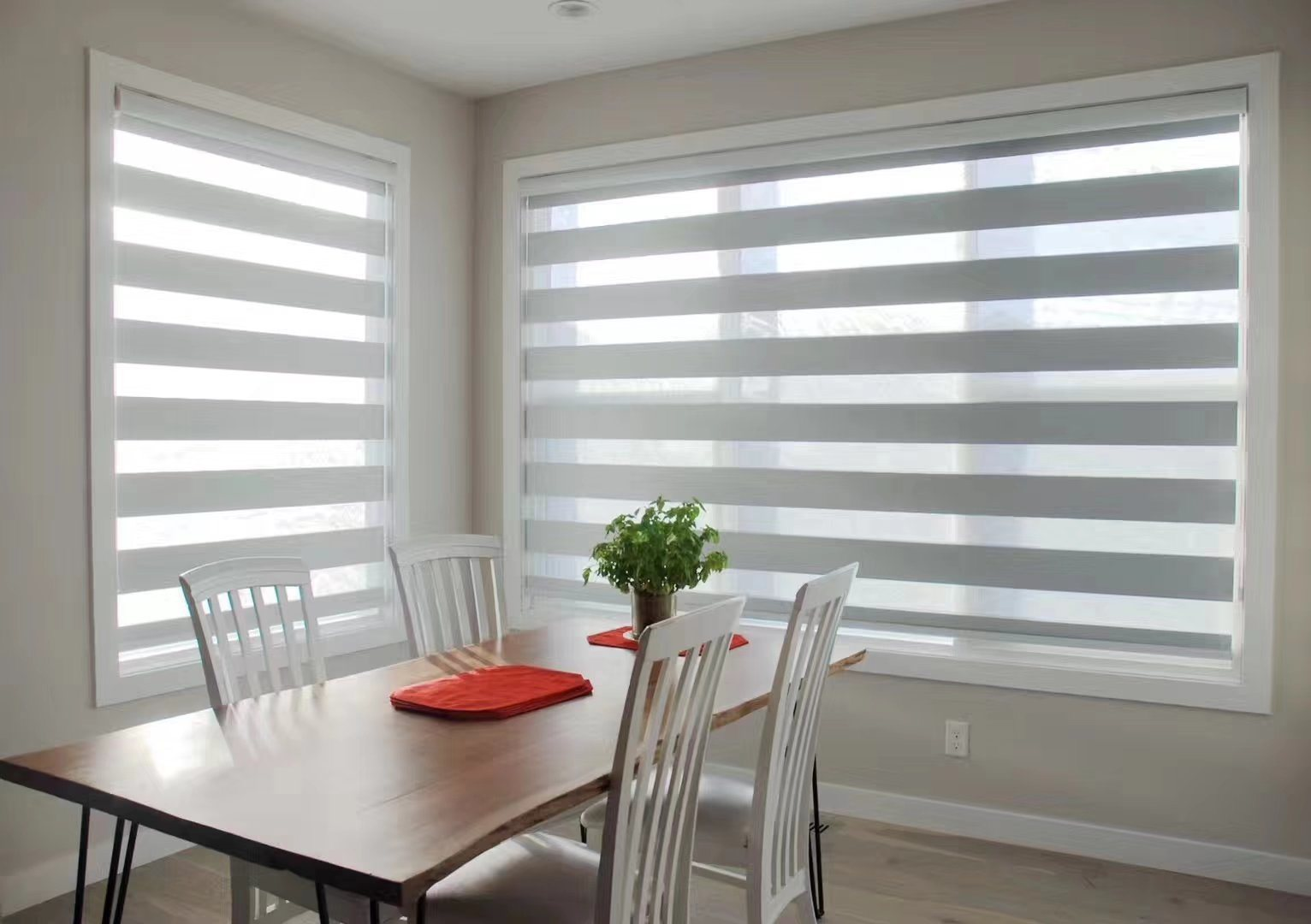 China Combi Blinds Light Grey Color For Dining Room
