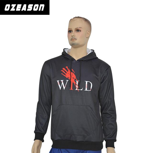 9f890271c Free Design Wholesale High Quality Plain Pullover Custom Printing Black  Hoodie