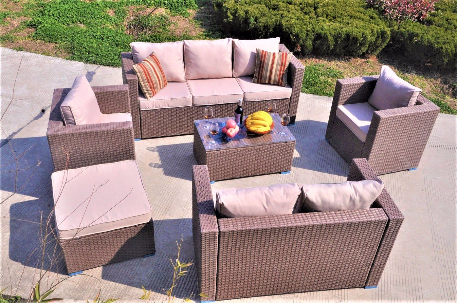 China Comfortable Combination Garden Wicker Sofa Outdoor Rattan Furniture Gn 9114s