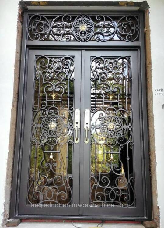 French Double Front Entry Doors Iron