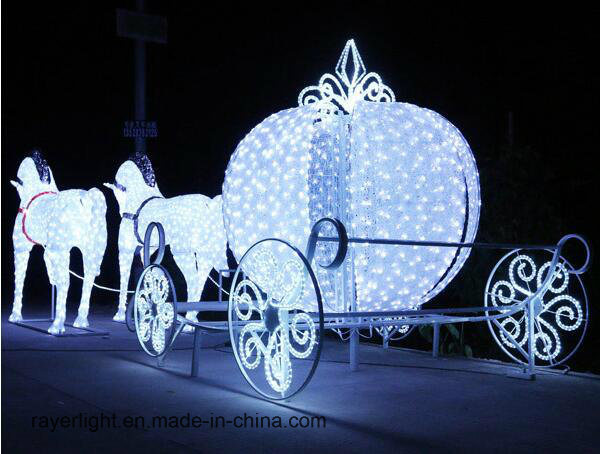 outdoor landscape horse decoration solar led christmas decorative light - Christmas Lighted Horse Carriage Outdoor Decoration