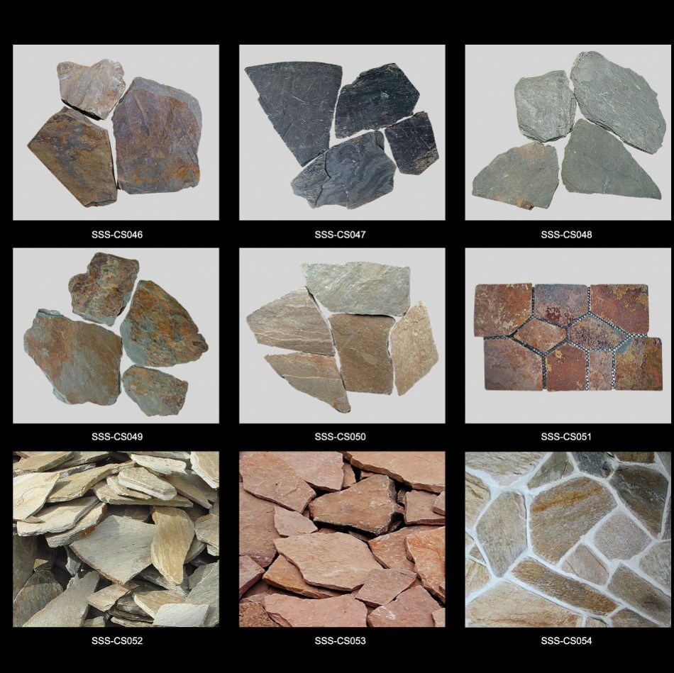 Natural Stone Rusty Meshed Slate Paving Tile for Outdoor pictures & photos