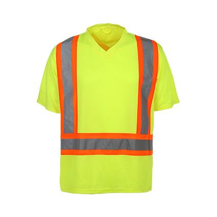 Traega TPS03  Hi Vis Visibility Safety Workwear 2 Tone Short Sleeve Polo Shirts