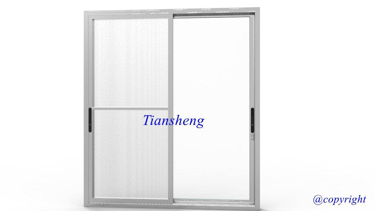 China Double Glazing Aluminum Sliding Door With Mosquito Net China