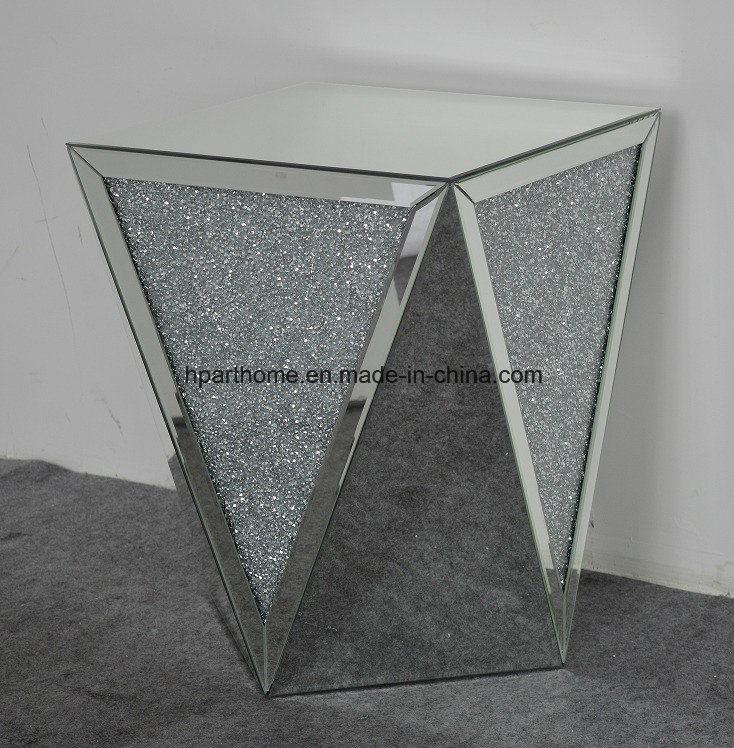 China Home Used Crushed Diamond Mirrored Stool Decor Furniture