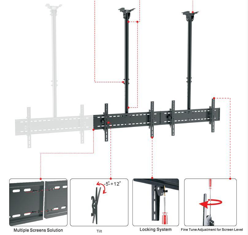 Ceiling Mount Menuboard Dual Screens Cm 200c pictures & photos