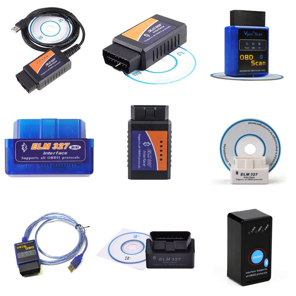 [Hot Item] Elm327 V2 1 OBD2 Interface Scanner Can-Bus Bluetooth or WiFi Car  Auto Diagnostic