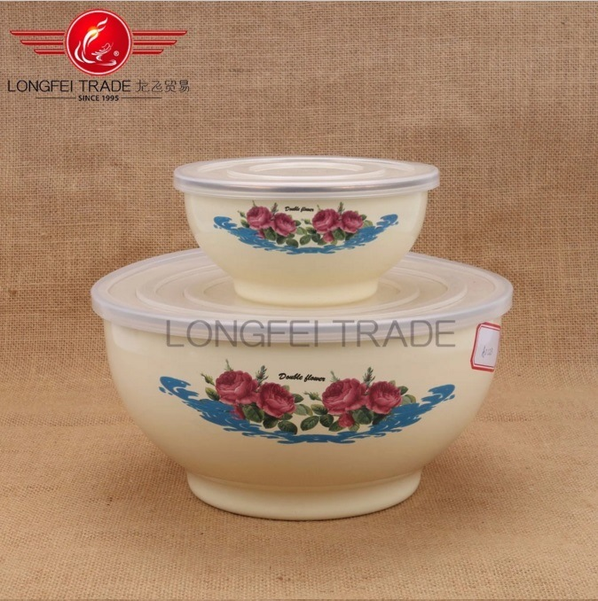 16/22/26cm Enamel Footed Serving Bowl Set/Ice Bowl pictures & photos