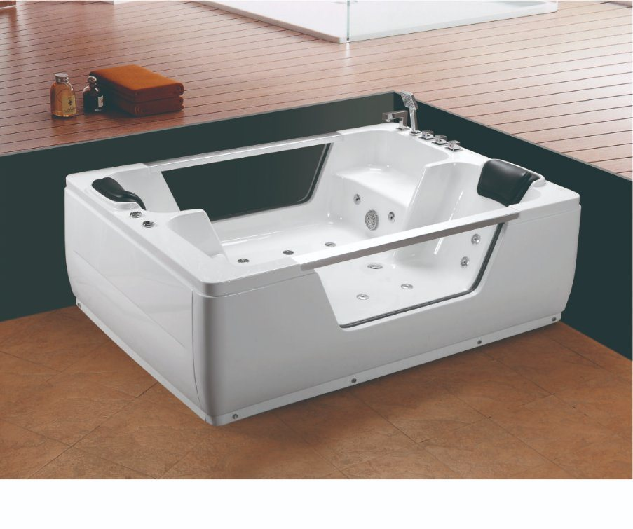 China 2 Person Glass Window Luxury SPA Hot Tub Whirlpool Bath Tub ...