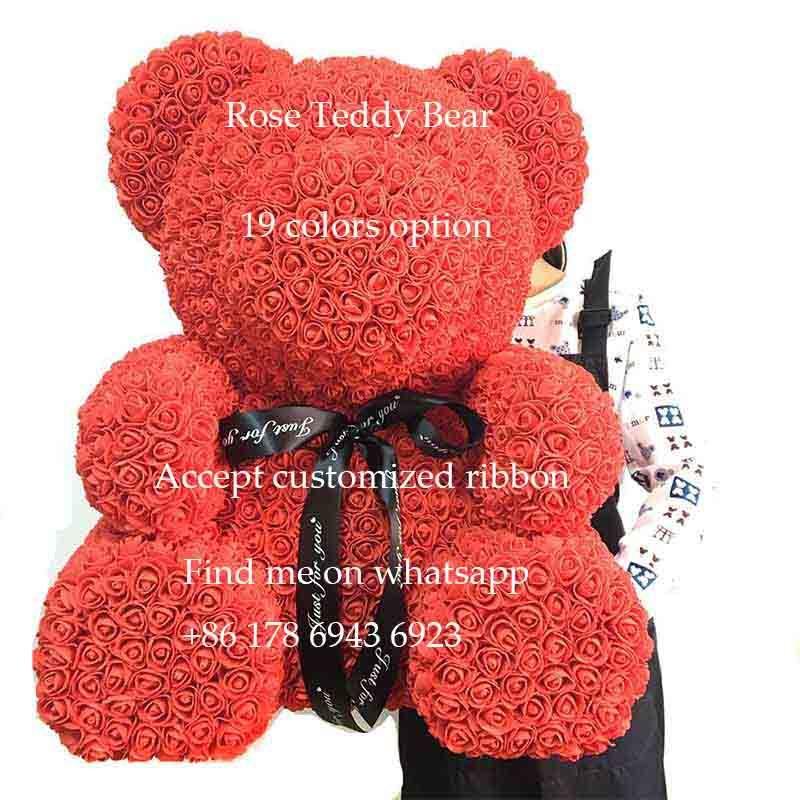 Valentine Gifts Foam Rose Teddy Bear