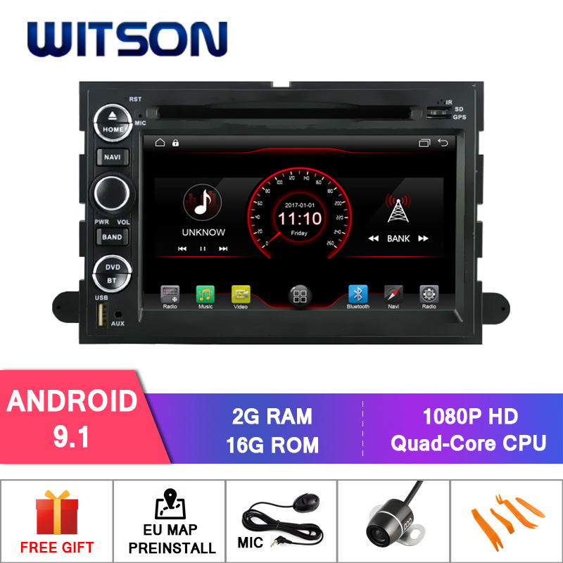 Witson Quad-Core Android 9.0 Car DVD Player for Ford F150 Built-in WiFi Module pictures & photos