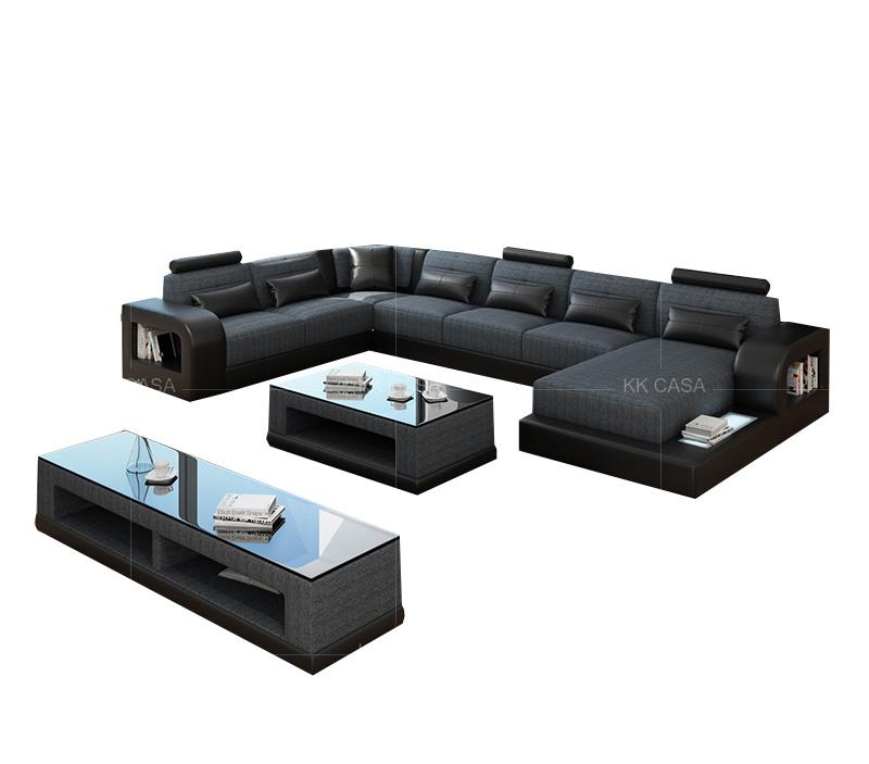 Genuine Leather Corner Sofa, Living Room Suites