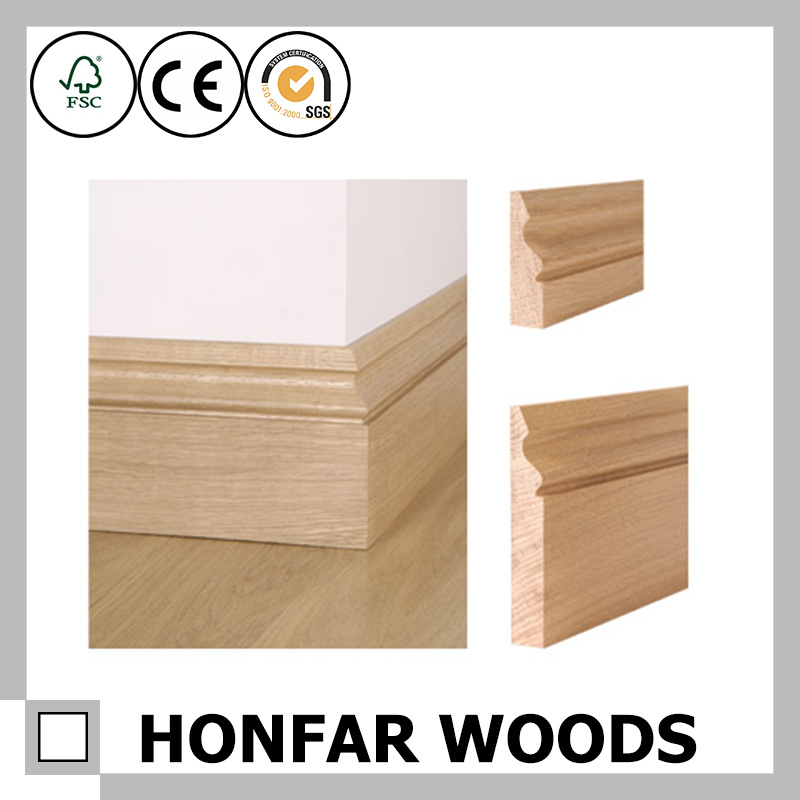 China European Style Flooring Accessories Solid Wood Skirting