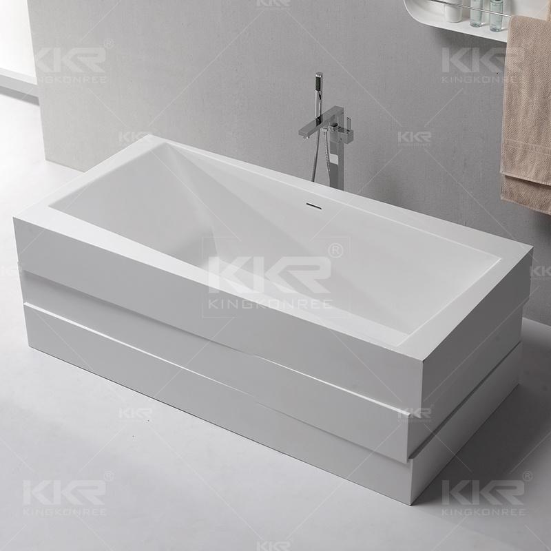China Newly Designed Rectangular Solid Surface Freestanding Bathtub ...