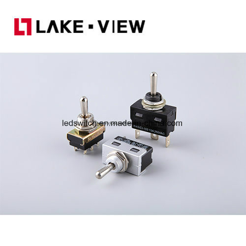 SGS Sub-Miniature Button Midium-Size Bolt Toggle Switch pictures & photos