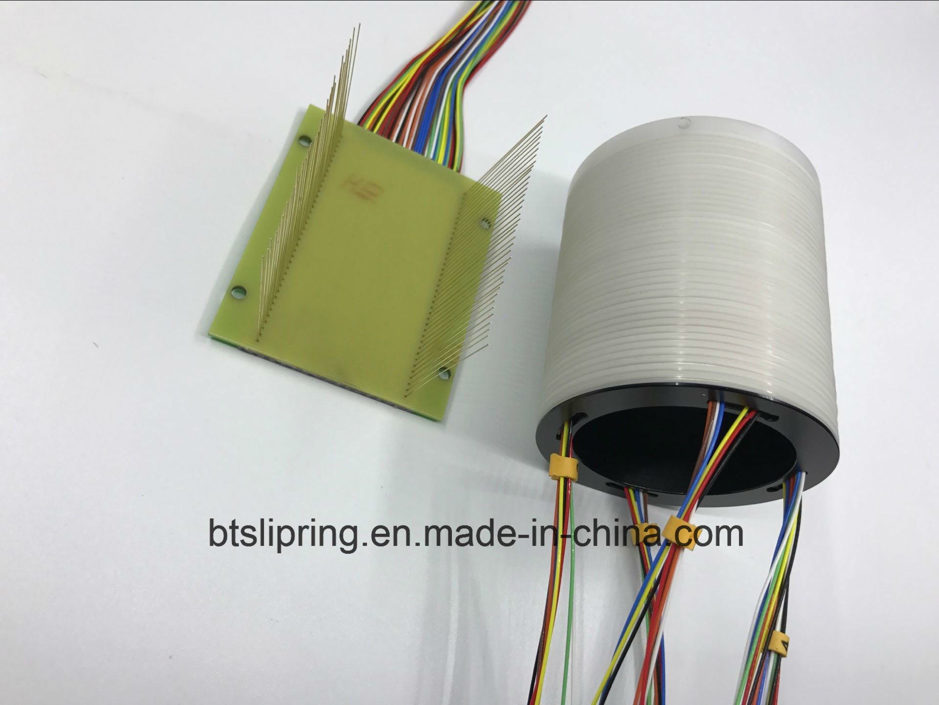China 38 Circuits Separate Slip Ring with PCB or POM Brush Block ...