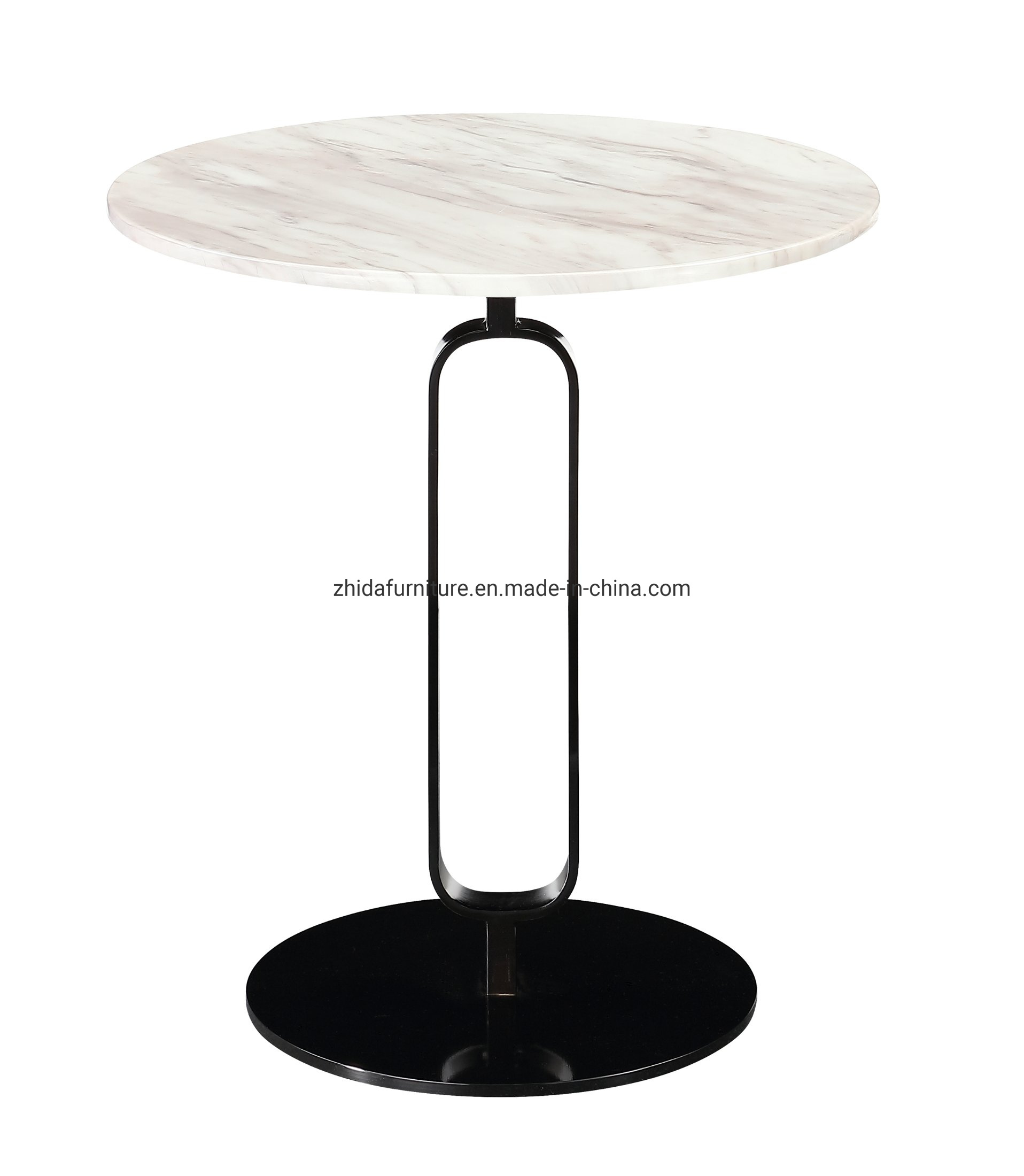 China Modern Design Stainless Steel Round Marble Side Coffee Table China Marble Table Stainless Steel Table