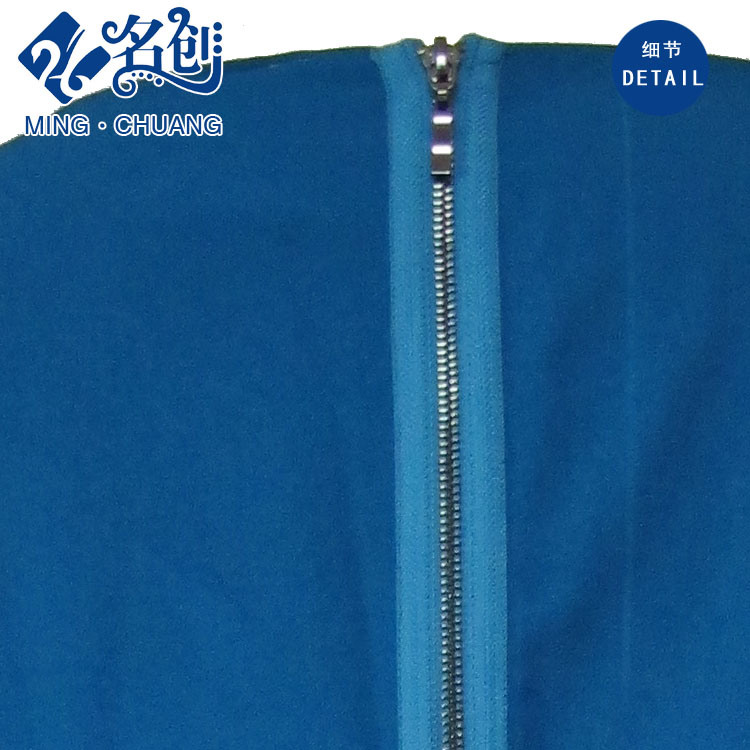 Blue Round-Collar Sleeveless Rear-Zipper Hollowing-Lower Slim Long Ladies Party Dress pictures & photos