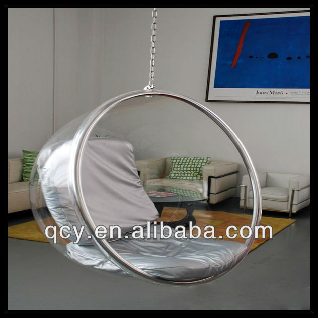 Fancy Classic Clear Acrylic Hanging Bubble Chairs