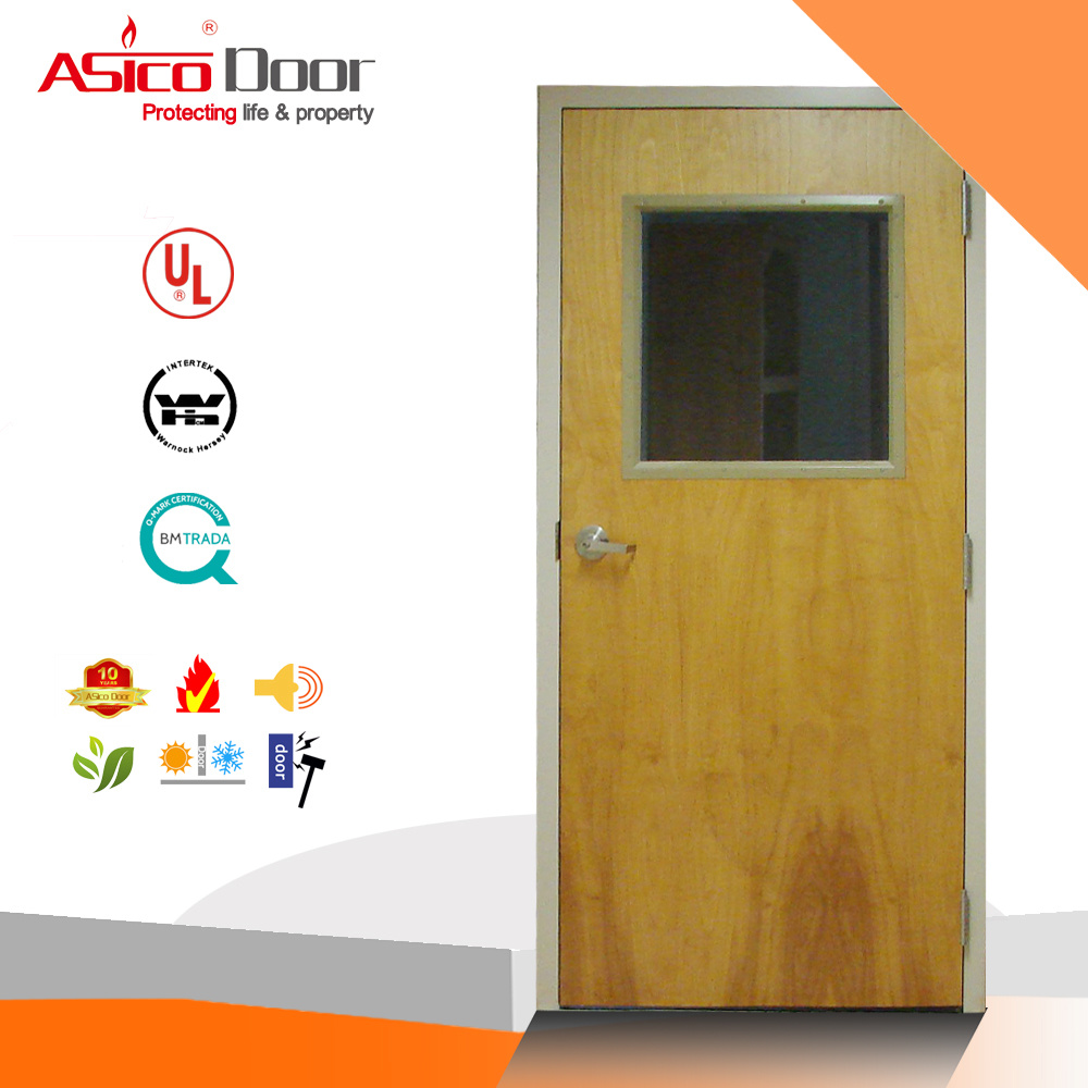 China Bs Certified Solid Wooden Fire Proof Door For Apartment Main Safety Design Ul Rated Doors 2hour Rating