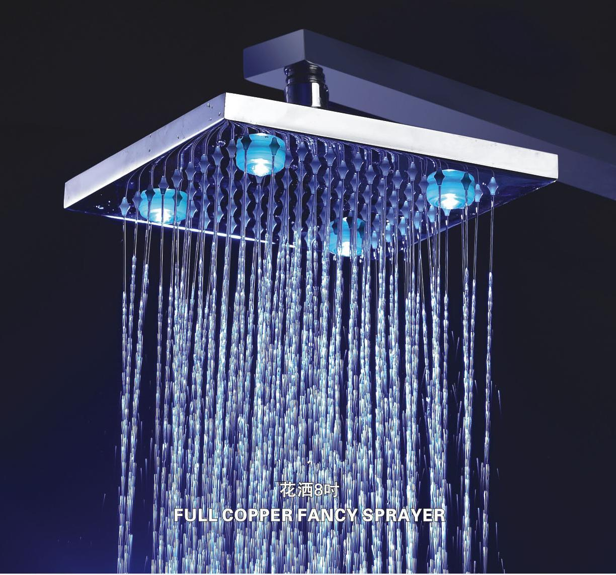 China Led Brass Shower Head L 4202 China Led Brass