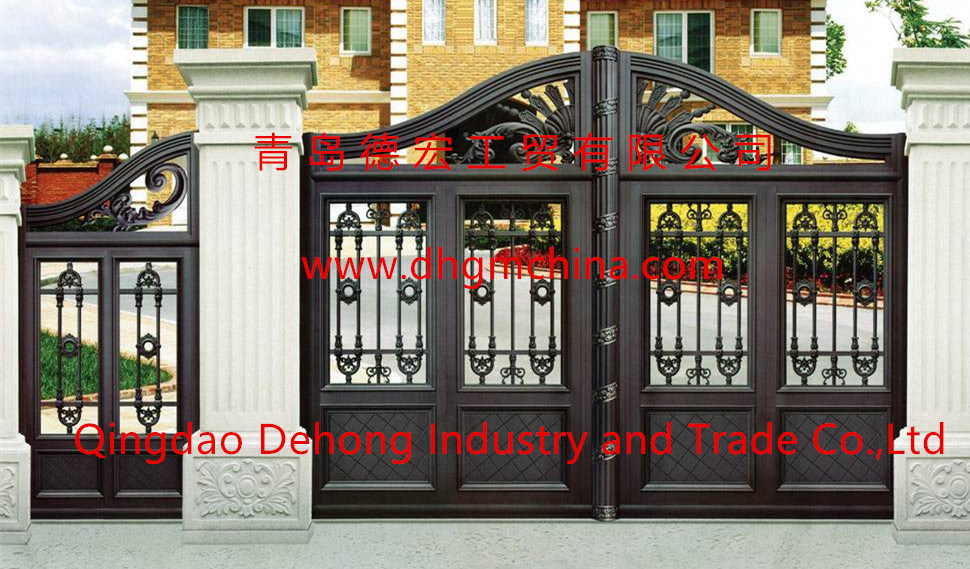 [Hot Item] Customized Outdoor Wrought Iron Gate with Small Side Gate