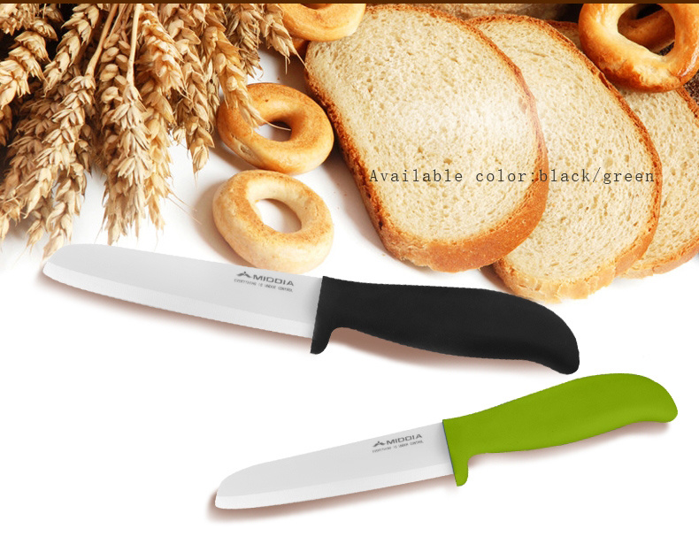 "Professional Kitchen Knife China Factory 6"" Ceramic Slicing Knife Bread Knife pictures & photos"