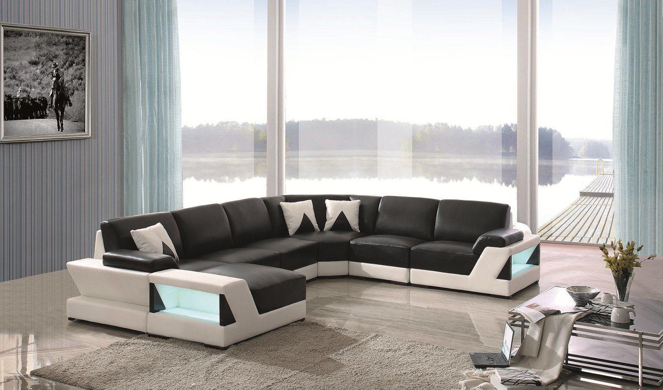 China Hot Sale Modern Big Corner Sofa Lz126 - China Leather Sofa ...