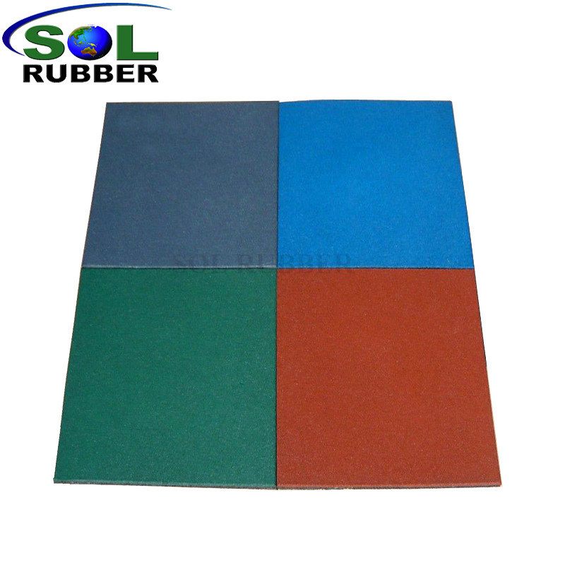 China Colored Rubber Graules Outdoor Rubber Floor Tile China