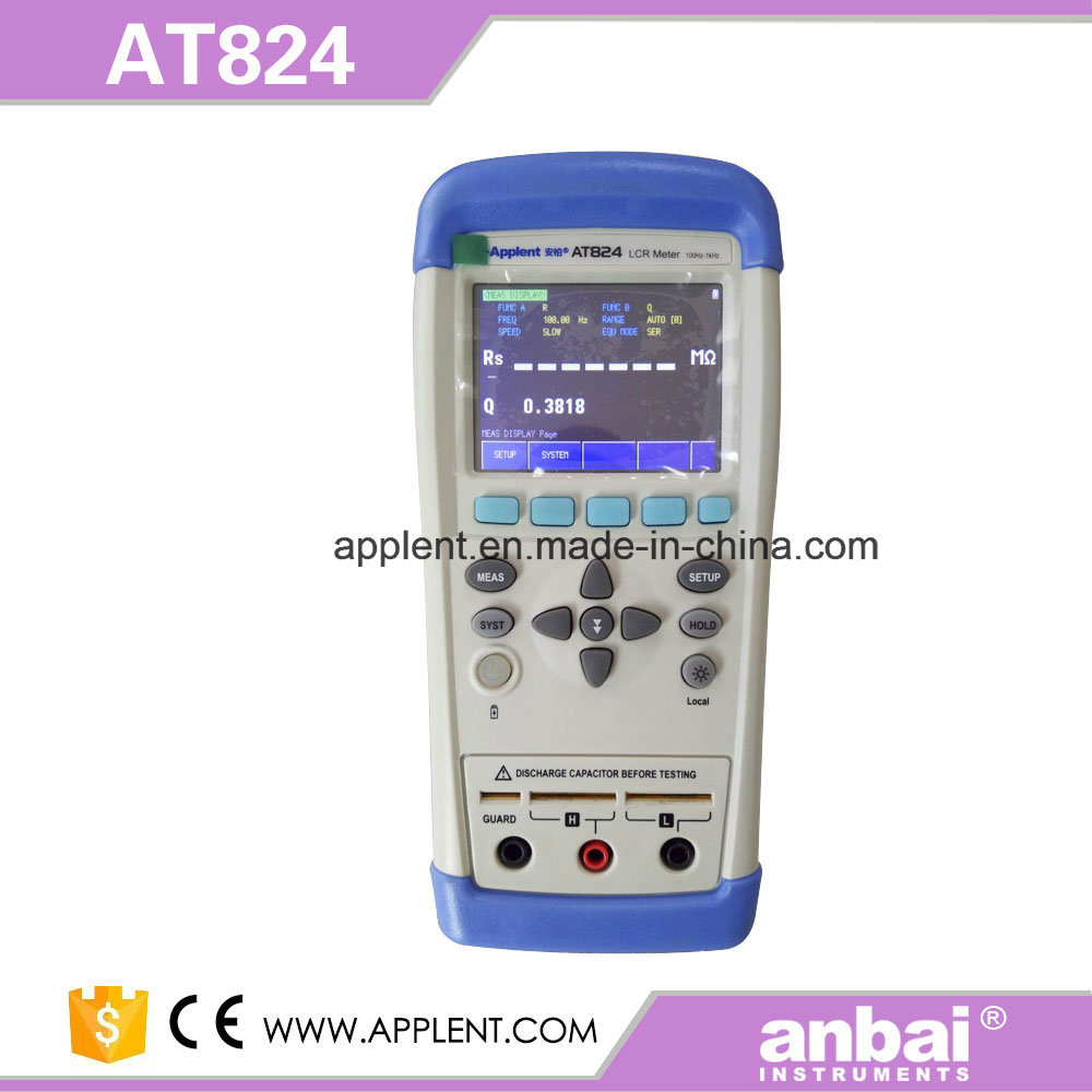 Hot Sale Handheld Lcr Meter with Touch Panel Function (AT825)
