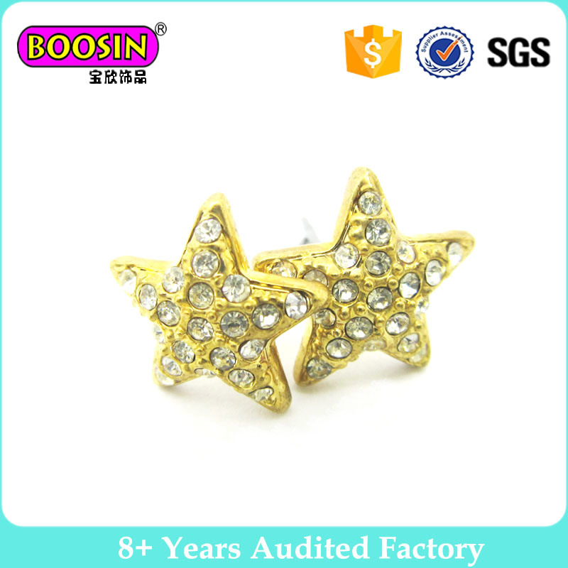 China Star Shape Simple Gold Earring Designs for Women - China ...