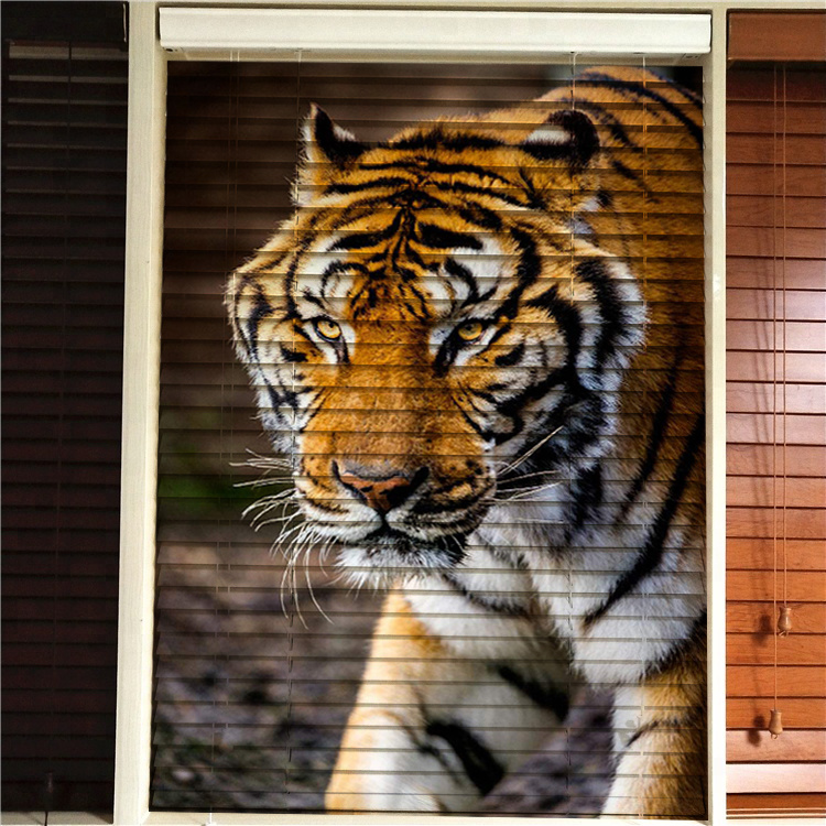 Hot Item Arabic European Indian Style Lion Animal Design Wooden Blinds 3d Printed Blind Blackout Window Roller Shades