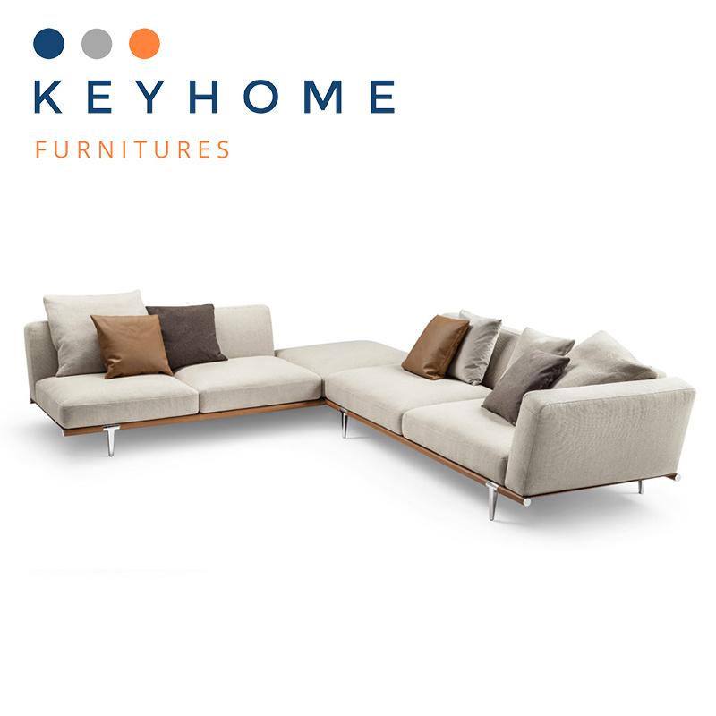 China Italian White Genuine Leather Sofa Corner Sofa for Home ...