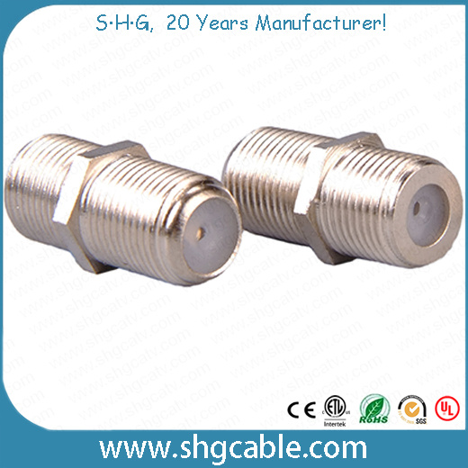 China F Type Splice Adapter Connector for Coaxial Cable Rg59 RG6 (F ...
