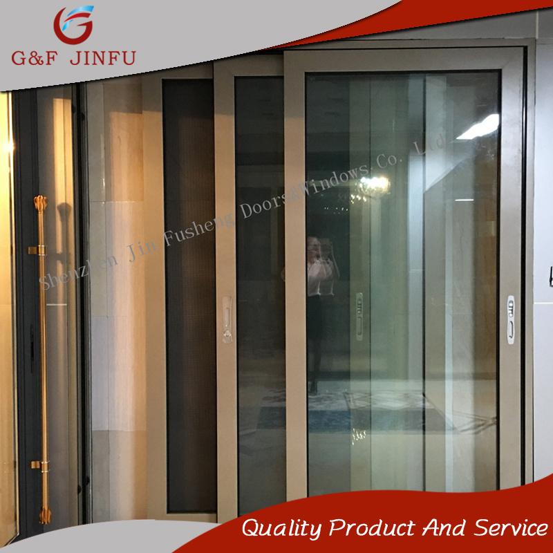China High End Aluminium Sliding Glass Door With Auto Control
