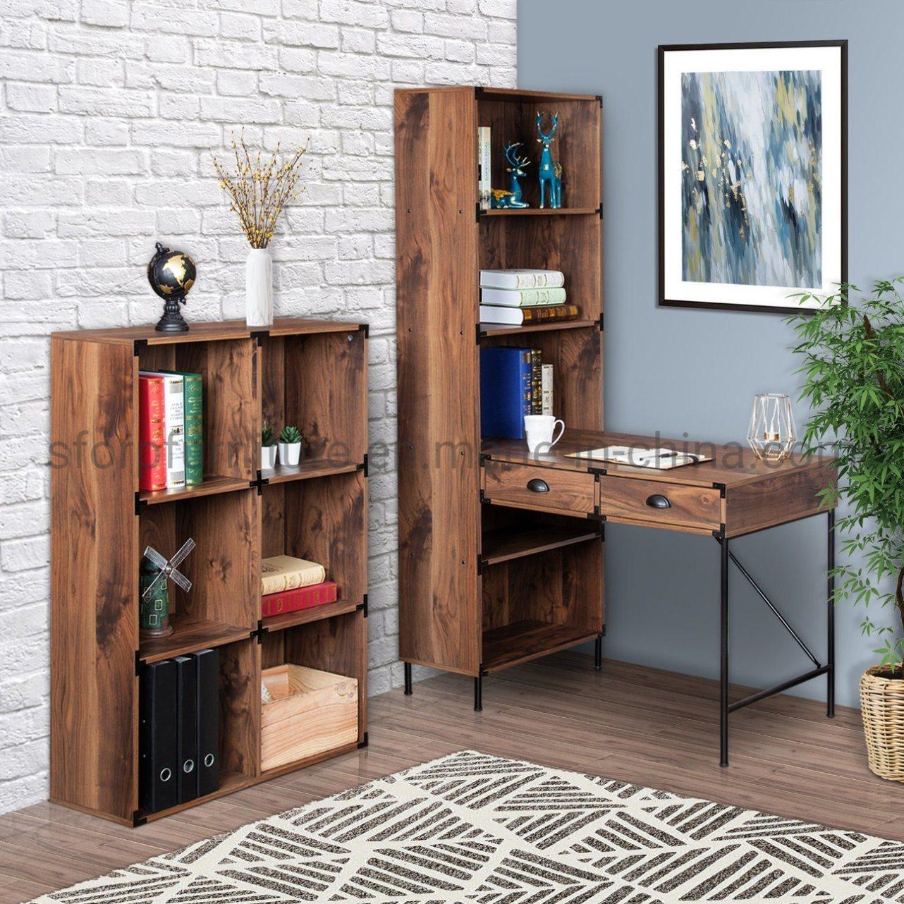 [Hot Item] Home Office Furniture Wooden Walnut Color Corner Desk