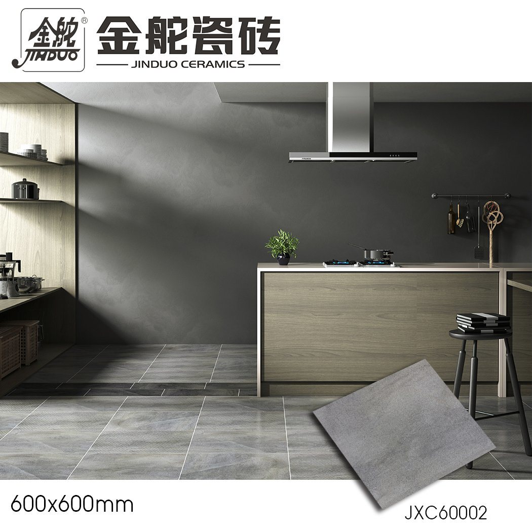 China 600x600mm Non Slip Light Gray Rustic Ceramic Bathroom Floor Tile China Foshan Tile Factory Porcelain Tiles