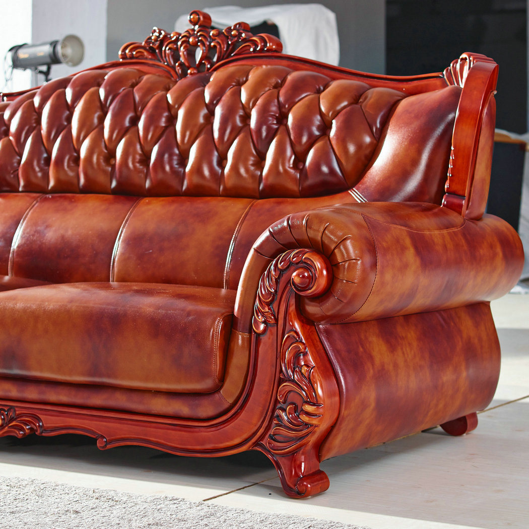 Leather Sofa Wooden America